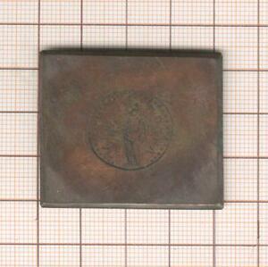 rare document plaque cuivre gravée monnaie antique pour ouvrage numismatique