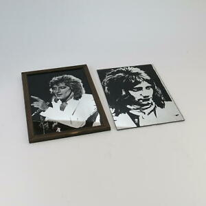 Rod Stewart Vintage Picture Mirrors Pop Rock Star Collectible The Faces x 2