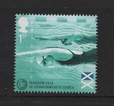 Bandera de Natación// GB 2014 um sello de menta