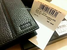 HUGO BOSS 'Traveller_Trifold' MEN'S BLACK SOFT COWHIDE LEATHER RRP £129