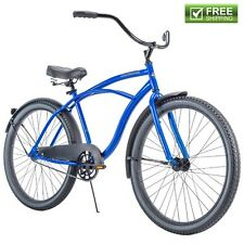 "Blue Cruiser Bike 26"" Men Huffy Traditional Comfort Commuter City Beach Bicycle"
