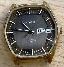 Edox ESA 9181 Quartz 37 mm NO Funciona For Parts Watch Swiss