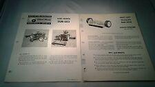 Original WHEEL HORSE Lawn GANG MOWER SGM-603 Model 2621W Part List Instruction