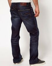 G Star RAW 3301 Loose Boot Cut Jeans in Track Wash Hanes Denim Size W33/L30 $180