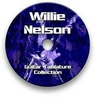 WILLIE NELSON COUNTRY ROCK GUITAR TABS TABLATURE SONG BOOK TUITION SOFTWARE CD