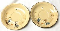 Franciscan Bouquet Plates saucers Made in USA Lot of 2