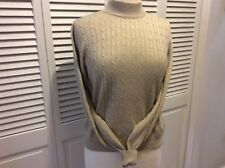 Mark Fore And Strike Silk And Cashmere Beige Long Sleeve Cableknit Sweater S