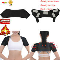 Self-Heating Shoulder Pad Support Relax Braces Belt Magnetic Therapy Strap W