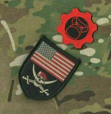 SYRIA IRAQ GREEN BERETS SFG US ADVISORS velkrö 2-PATCH: us Flag SKULL Totenkopf