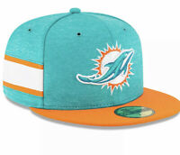 New Era 59FIFTY NFL Miami Dolphins On Field Fitted Cap Size 7 3/8 NEW FREE SH!