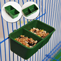 Pets Plastic Feeding Cup Food/Water Bowl Birds Pigeons Parort 2 in 1 Cage Feeder