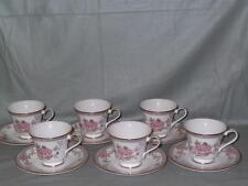 6 Royal Doulton Canton Tea Cups & Saucers H.5052