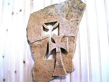 Large Wall cross carved from natural stone #251