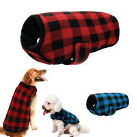 British Plaid Grid Winter Dog Clothes Harness Pet Dog Coat Warm Jacket Apparel