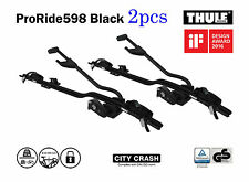 2pack THULE ProRide598 Black roof top upright bike carrier-City Crash tested