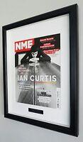 Ian Curtis-Joy Division-Framed Original NME-Plaque-Certificate-NEW-RARE-