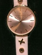 THOM OLSON Womens 40mm Message Pink Leather Kiss Watch NEW!  CBTO013