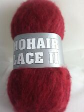 Mohair Lace II #16 Cranberry Filati Europa Mohair Wool Acryl Nylon Bl 50gr 480yd