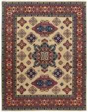 Geometric Super Kazak Oriental Area Rug Classic Hand-Knotted Wool Carpet 8'x10'