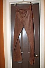 WORTH Women's Chocolate Brown Leather Suede Pants, Size 2