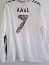 Real Madrid 2013-2014 Raul 7 Abschied Home Football Shirt Gr XXL LS/41647