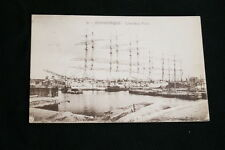 DUNKERQUE L'ARRIERE PORT NAVIRES PENICHES  1928 NORD  R1214