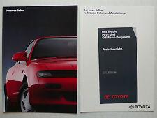 Prospekt Toyota Celica 2.0 GTi, Turbo 4x4, 3.1990, 18 Seiten+Daten+Preisliste