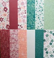 Designerpapier Blühende Fantasie von Stampin up 6 Bögen ci.15,2 x 15,2cm #