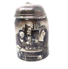 Rare Antique Victorian Gorham Solid Silver Lidded Lenox Tankard #ST