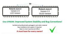 Roland Alpha Juno-2 - Version 2.5 Update Upgrade Firmware Eprom for Juno2 OLED