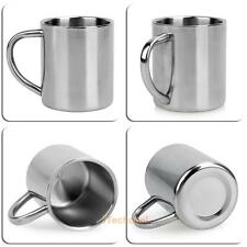 220ml Stainless Steel Double Wall Travel Mug Camping Tumbler Drinking Coffee Cup