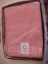 "VINTAGE ""NORTH STAR"" WOOL BLANKET, PINK COLOR, UNUSED, ORIGINAL 1940s Box"