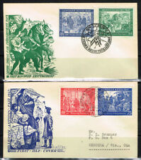 Germany Scott#580-83 On Two First Day Covers