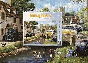 KING JIGSAW PUZZLE 🧩 PASTIME AT THE RIVER BY KEVIN WALSH 1000 PIECES COMPLETE