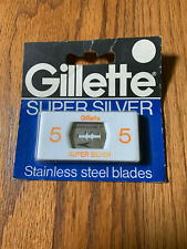 Old Gillette Super Silver Super Stainless Blades. 5 count
