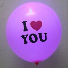 5pcs Luminous Led Light up Balloons  i Love you Balloons Party Wedding Supply
