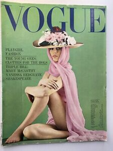1964 July VOGUE Grace Coddington Jane Asher by Bailey COMPLIMENTARY GIFT WRAP