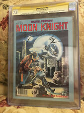 Marvel Preview 21 CGC SS 7.5 Signed By Bill Sienkiewicz & Roy Thomas Moon Knight