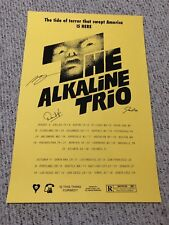 ALKALINE TRIO SUMMER FALL 2018 TOUR BAND SIGNED POSTER AUTHENTIC AUTOGRAPHED!