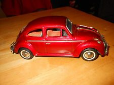 Vintage Tin VW Bandai Japan Volkswagen Beetle Car & Driver Battery Op, WORKS!!