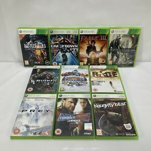Bundle x 10 Microsoft Xbox 360 Games Battlefield 3 Fable 3 Crackdown etc