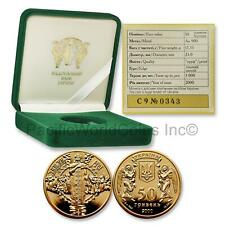 Ukraine 2000 Conversion of the Russ to Christianity Gold Coin w/ COA & Box S7537