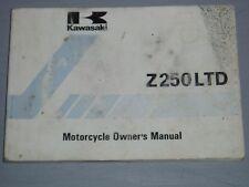 KAWASAKI Z250LTD, Z250-V1 OWNERS MANUAL