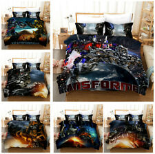 3D Printed Transformers Bedding Set Kids Boys Duvet Cover Set Single Double King