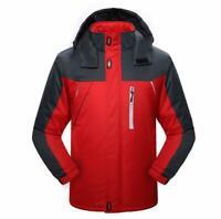 Men's Survival Waterproof Windproof Outdoor Hooded Ski Coat Snow Jacket Coat New