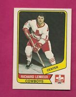 RARE 1976-77 OPC WHA # 74 COWBOYS RICHARD LEMIEUX NRMT-MT (INV# 8129)