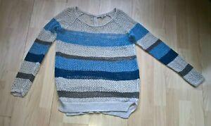 Ladies  Gerard Darel Open Weave  Linen Jumper  size  ( 2 )  14