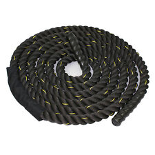 "Battle Rope 1.5"" Thick 30ft Black PolyDac Heavy Crossfit Training Exercise Rope"