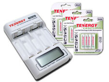 Combo: Tenergy Aa/Aaa NiMh Lcd Battery Charger+3 Cards Centura Aaa Batteries