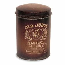 Vintage Reproduction`Old Judge` Allspice Advertising Canister`The Country House`